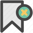 bookmark, education, learning, ribbon icon