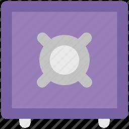 bank safe, bank vault, money box, safe box, storage icon