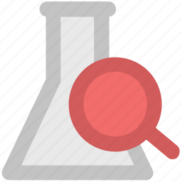 chemical, chemistry, flask, glass, laboratory, research, science, search, test tube icon