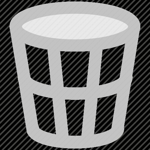 bin, delete, dustbin, paper bin, remove, trash bin, trash can icon
