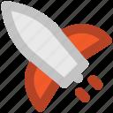 aircraft, airship, missile, rocket, spacecraft, spaceship icon
