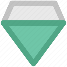 diamond, gem, graphite stone, jewel, jewelry, mineralogy icon