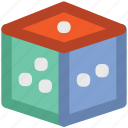 casino, dice, dice cube, die, gambling, game, jamaican game, square icon
