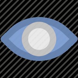 eye, look, retina, see, view, visible icon