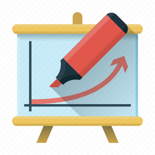 courses, education, flipchart, graph, seo, study, training icon