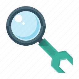 configuration, magnifying, magnifying glass, optimization, search, seo, settings icon
