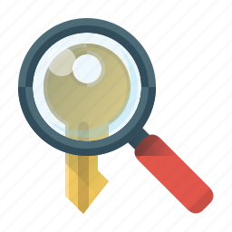 key, keyword, magnifying, magnifying glass, search, search keyword, seo icon