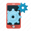 configuration, control, device, gear, mobile, mobile seo, settings icon