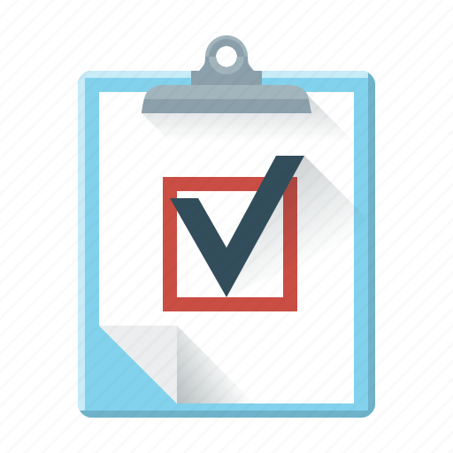 check mark, marketing, order, planchette, questionnaire, statistics, tick icon