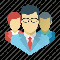 business, businessman, command, crew, marketing, social, team icon