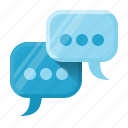 bubble, chat, communication, engagement, social, social engagement, talk icon