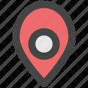location pin, location marker, map locator, map pin, location pointer icon