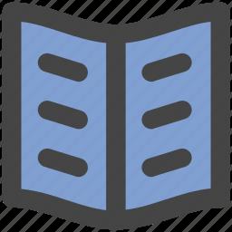 book, encyclopedia, guide, literature, open book, schoolbook icon
