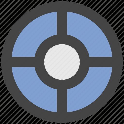 aim, focus, goal, shooting target, target icon