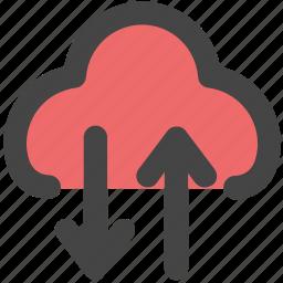 cloud data transfer, cloud data transmission, cloud transfer, cloud upload, cloud uploading icon