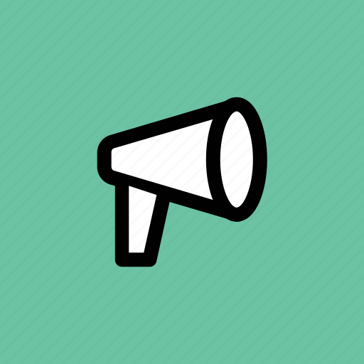 announcement, bullhorn, loud hailer, megaphone, speaking-trumpet icon