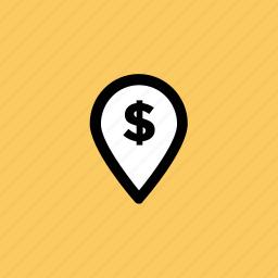 bank location, location marker, location pin, map locator, map pin icon