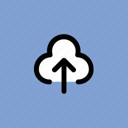 cloud uploading, upload, upload folder, uploading, upward icon