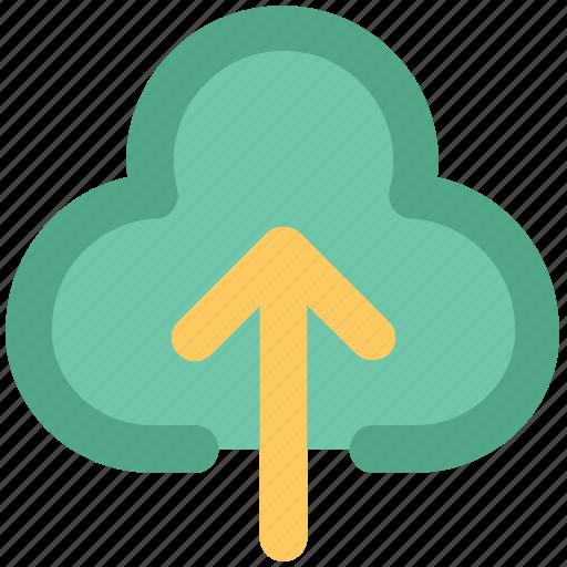 cloud arrow, indicator, into, up sign, upload, uploading, upward icon