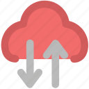 cloud arrow, cloud arrows, cloud computing, cloud netting, cloud network, cloud sharing icon