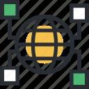 cyberspace, digital informations, globe, internet, network icon