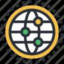 cyberspace, digital informations, globe, internet, network