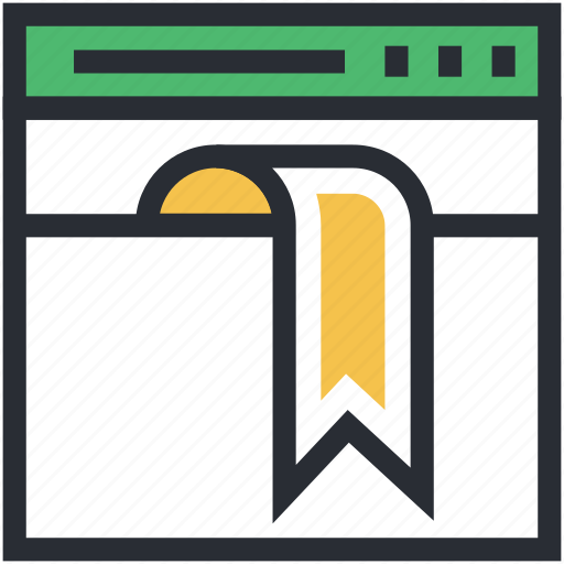 bookmark, browser, webpage, webpage ribbon, website icon