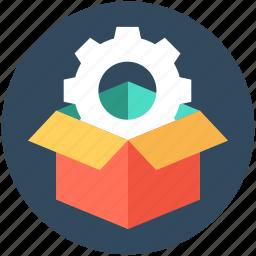 box, gear, optimization, preferences, setting icon