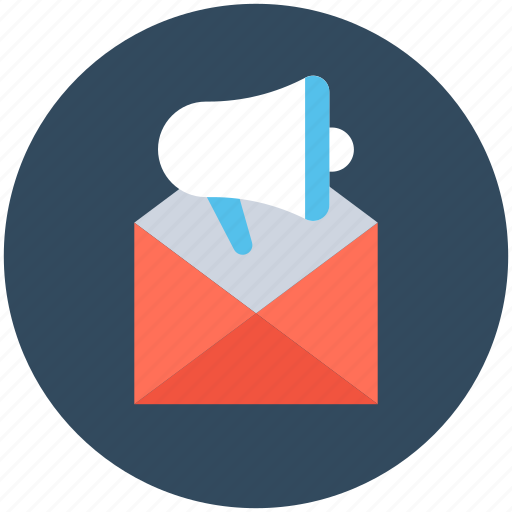 advertise, advertising, announcement, announcement email, email icon