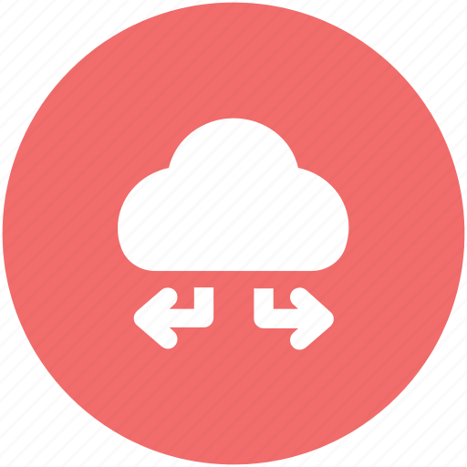 arrow direction, arrow pointing, cloud network, cloud technology, wireless network icon