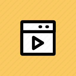 media, media player, monitor, multimedia, video player icon