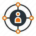 analysis, connectivity, market, seo icon