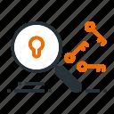 analysis, keyword, market, search, seo icon