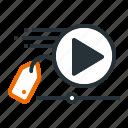 advertising, analysis, market, seo, video icon