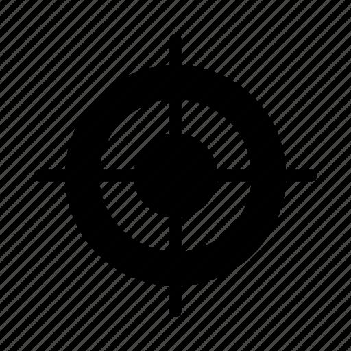 aim, dart, focus, goal, target icon