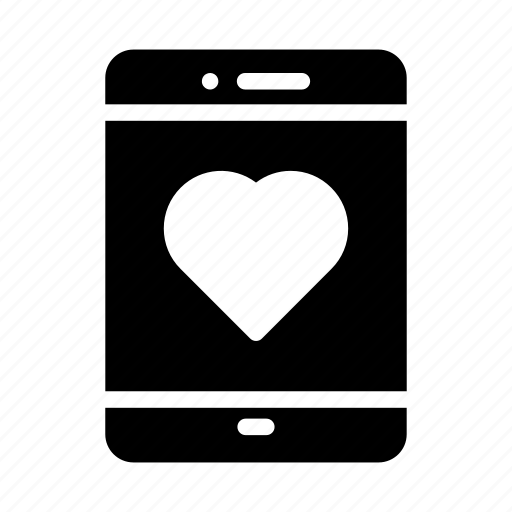 device, heart, life, mobile, phone icon