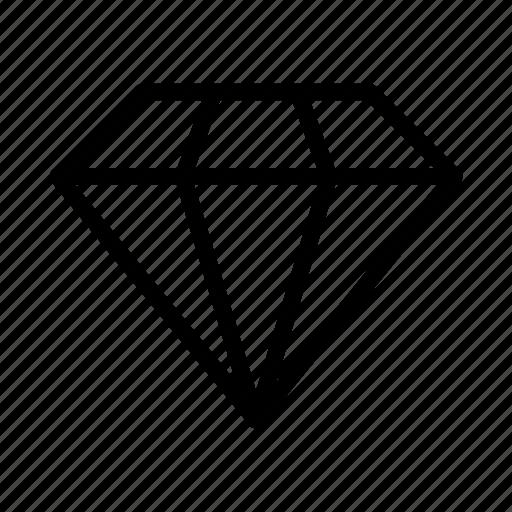 diamond, finance, gem, jewel, ruby icon