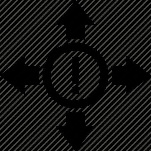 arrow, error, error sign, three sixty icon