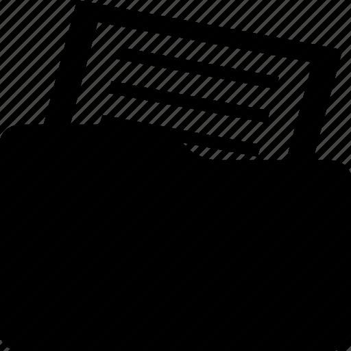 document, file, file folder, folder, sheet icon