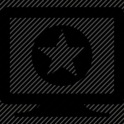 appreciation, computer, display, lcd, monitor, star icon