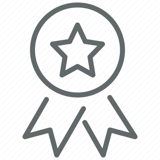 award, badge, quality, ribbon icon