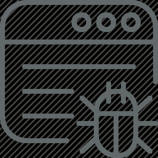antivirus, debugging, seo, webpage icon
