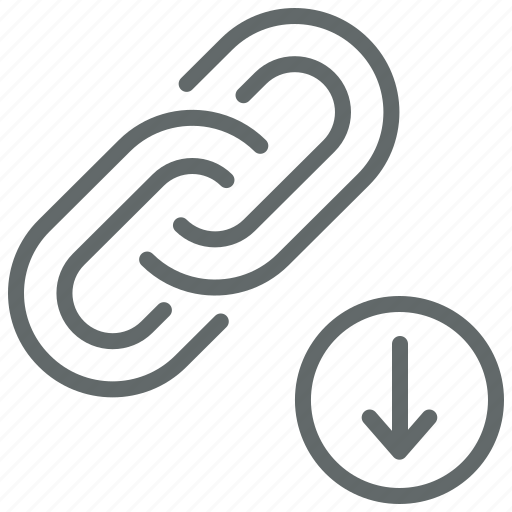download, external, hyperlink, inbound, link, web icon