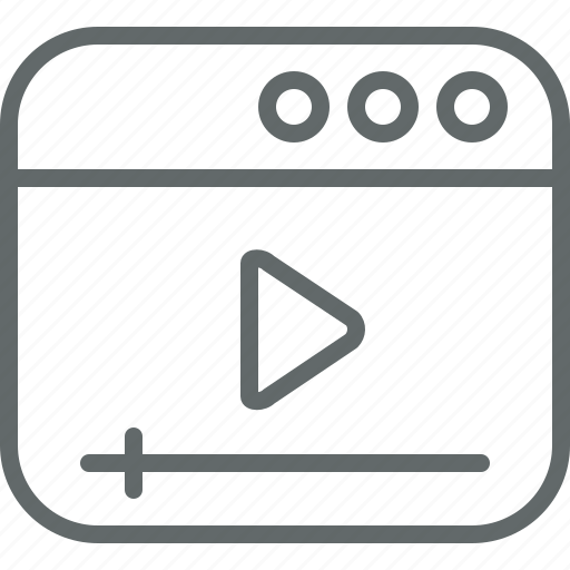 Seo, marketing, video, media icon