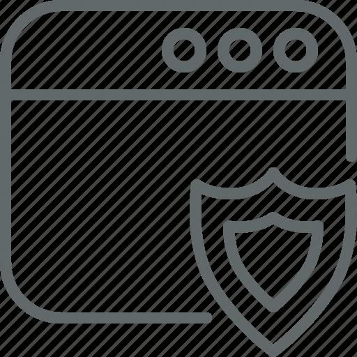 protection, seo, shield, web icon