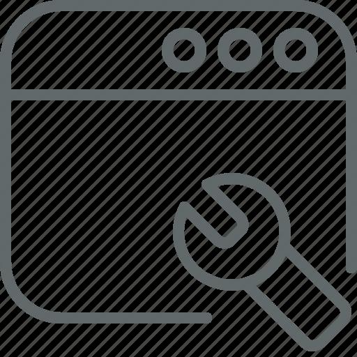 maintenance, repair, seo, service, tools, web icon