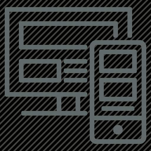 adaptive, design, device, responsive, seo, web icon