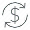 business, dollar, investment, money, return icon