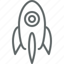 business, rocket, spaceship, start up icon