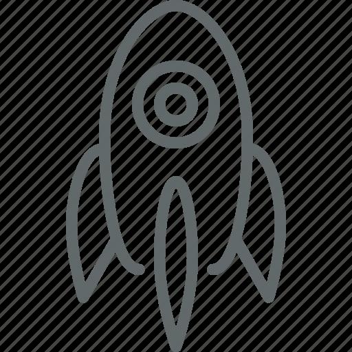 business, rocket, spaceship, start up icon